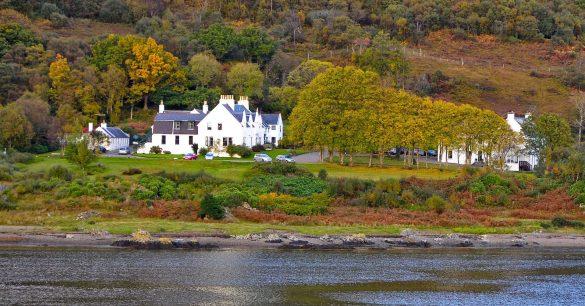 Das Luxushotel Kinloch Lodge liegt auf der Halbinsel Sleat auf Skye