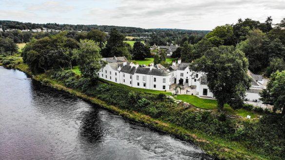 Das luxuriöse Maryculter House Hotel liegt westlich vor den Toren von Aberdeen