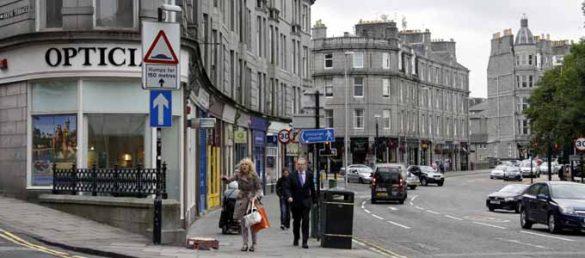 Die Handlung des Kriminalromans »Das Knochenband« von Stuart MacBride spielt in Aberdeen