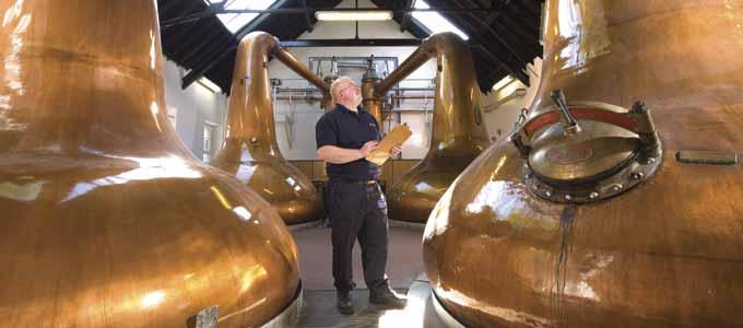 Im populären Urlaubsort Pitlochry liegt die Blair Athol Distillery unweit der Hauptverkehrsverbindung zwischen Edinburgh und Inverness
