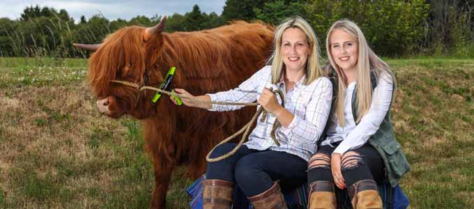 Grace Noble ist die Farmerin hinter Aberdeenshire Highland Cattle & Beef bei Banchory