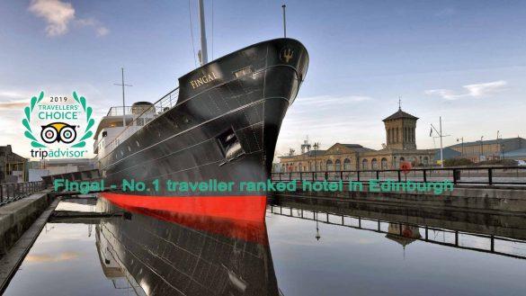 Das 5-Sterne Hotelschiff Fingal ist bei TripAdvisor die Nr. 1 in Edinburgh