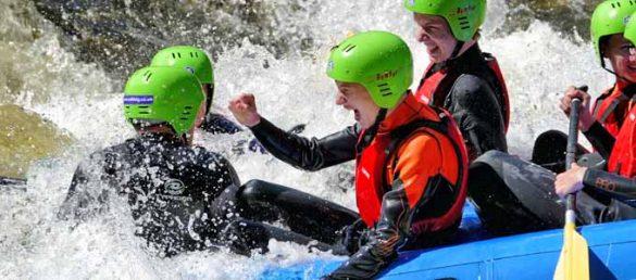 Splash White Water Rafting bietet spektakulären Wassersport in Schottland