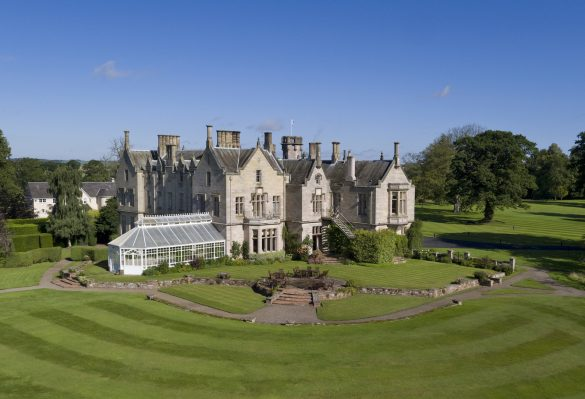 Das SCHLOSS Roxburghe Hotel & Golf Course bei Kelso in den Scottish Borders