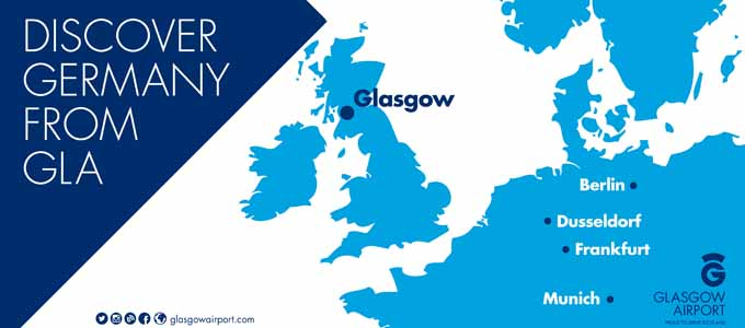 Glasgow Airport ist von Deutschland aus das Tor zu Schottland
