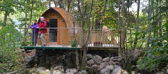 Die RiverBeds stellen eine naturnahe Unterkunft der Premiumklasse dar