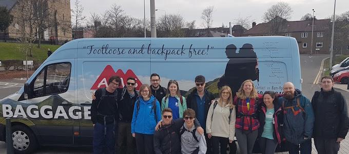 Gepäcktransport auf dem West Highland Way mit AMS Scotland
