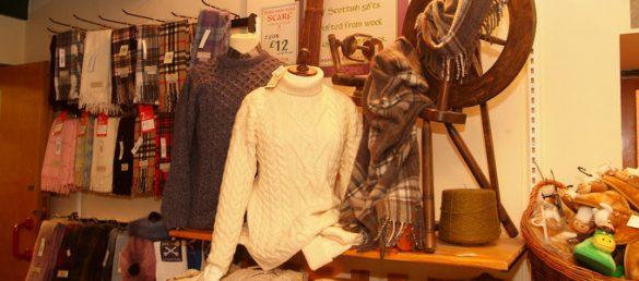 Die Abbey Mill in Melrose in den Scottish Borders verfügt über eine hochwertige Auswahl an Strickwaren und Wollprodukten