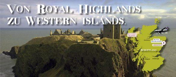 Von Aberdeen aus geht die Reise über die Royal Highlands bis hin zu den Western Islands
