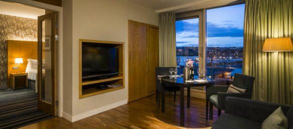 Vom 4-Sterne Apex City Quay Hotel & Spa hat man einen herrlichen Blick auf den historischen Hafen von Dundee