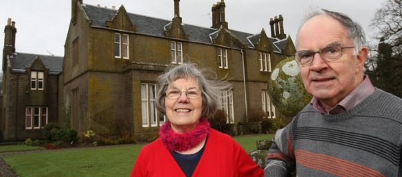 The owners of Duntrune House Olwyn and Barrie Jack are very happy to live in the hidden county of Angus
