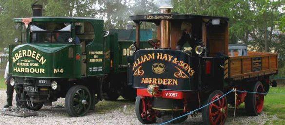 Mobilität aus verschiedenen Jahrhunderten ist in dem Grampian Transport Museum in Alford zu bewundern