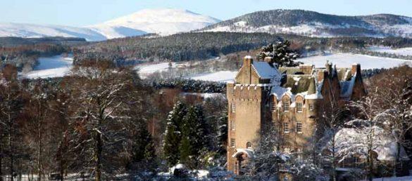 Andrew und Nicola Bradford sind die Gastgeber auf Kincardine Castle in den Royal Highlands