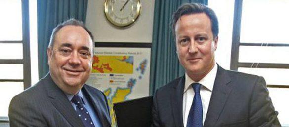 Alex Salmond und David Cameron haben sich auf ein Referendum zur Unabhängigkeit Schottlands im Jahr 2014 geeinigt