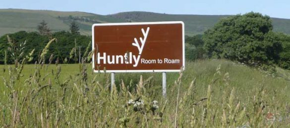 Claudia Zeiske is convinced that there is enough room to roam in Huntly in Aberdeenshire