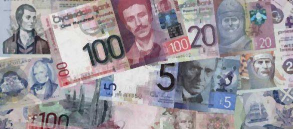 Das Schottische Pfund gilt als offizielle Währung vorwiegend in Schottland