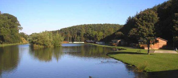 Der Thurston Manor Leisure Park in Lothian wird von einer wunderbaren Landschaft eingerahmt