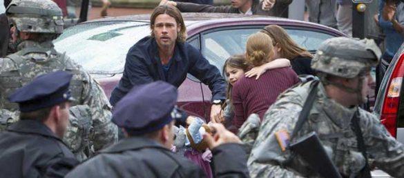 Brad Pitt ist einer der Hauptdarsteller des in Glasgow gedrehten Hollywood-Films »World War Z«