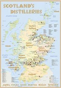 Rüdiger Hirst von der Firma Alba Collection hat eine Karte mit allen Destillerien in Schottland produziert