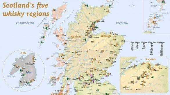 Das Sorglos-Paket von Alba-Collection umfasst alle wichtigen Informationen und Karten von Schottlands Whisky-Destillerien