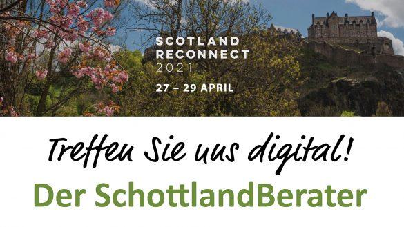 Die virtuelle Scotland Reconnect 2021 findet als größte schottische Reisemesse vom 27. bis 29. April statt